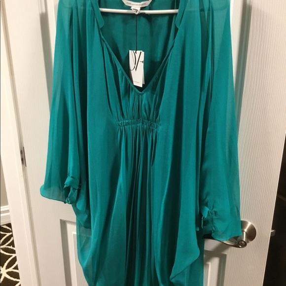 Diane Von Furstenberg Dresses & Skirts - NWT Diane Von Furstenberg Silk Dress Size 12